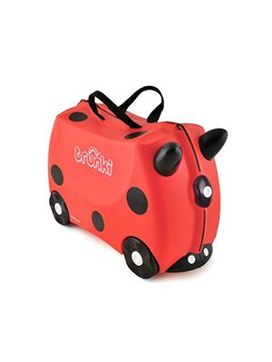 Trunki Pear Pricess, hartschalen kinderkoffer , Farbe hellblau, 18 Liter, Frontsicht, Reiseartikel Webshop weshop.ch