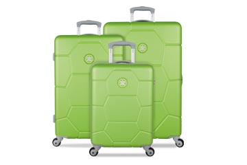 Hartschallenkoffer Suisuit Caretta Bright Lime Set weshop.ch Schweiz