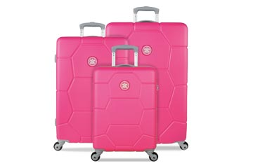 Hartschallentrolley Suisuit Caretta Shocking Pink weshop.ch Schweiz