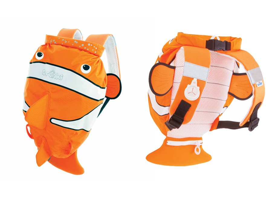 Trunki Paddlepak Chuckles, Clownfisch Kinderrucksack, Farbe Orange Reiseartikel Onlineshop weshop.ch