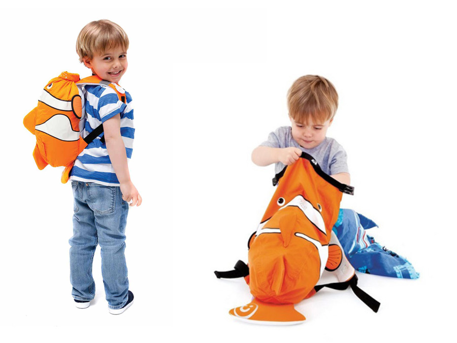 Trunki 18 Liter, Clownfisch Kinderrucksack, Farbe Orange Reiseartikel Onlineshop weshop.ch
