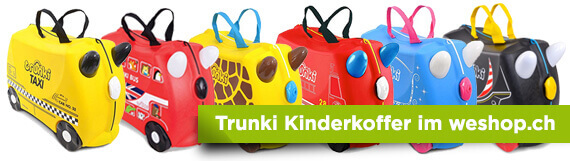 Grosse Auswahl an Trunki Kinderkoffer im weshop.ch